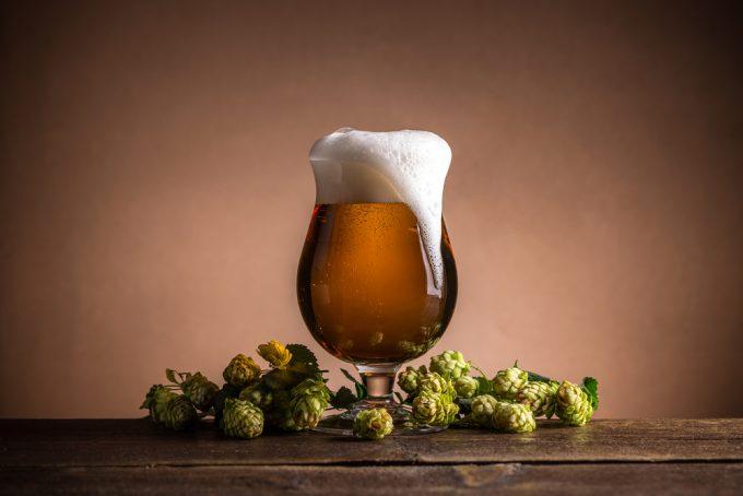 Pokal piwa i chmiel