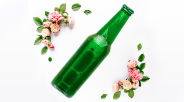 Kwiaty w piwie